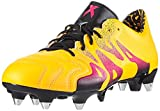adidas X 15.1 SG Leather - Botas de fútbol para hombre, color amarillo (Solar Gold/Shock Pink/Core Black), talla 40 2/3