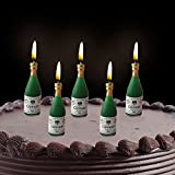 #8: PARTY PROPZ BIRTHDAY CHAMPAGNE CANDLE/ BIRTHDAY CANDLE/ ANNIVERSARY CANDLE/ BIRTHDAY DECORATION