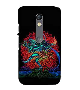 99Sublimation Lord Shiva 3D Hard Polycarbonate Back Case Cover for Motorola Moto X Force :: Dual SIM