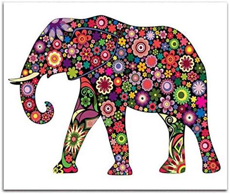 WACYDSD Puzzle Adulte 1000 Pièces Puzzle 3D Bricolage Animal Coloré Éléphant avec Le Paquet Kits À Apprendre pour Le Salon Decora | Paris