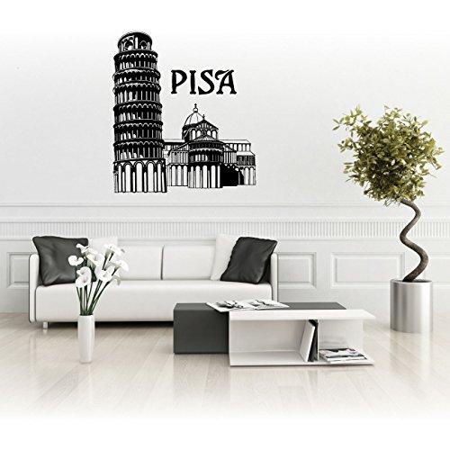 Schiefer Turm von Pisa in Italien Skyline Aufkleber Wanddekoration Autoaufkleber |SKI022