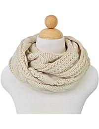 Luna et Margarita Echarpe Cercle en Tricot à Crochet Twist 8 Couleurs  Foulard Hiver pour Femme aaa43987117