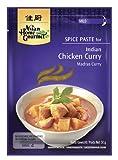 ASIAN HOME GOURMET 3er Pack Gewürzpaste für Indisches Curry Huhn (Madras Curry) [3x 50g]