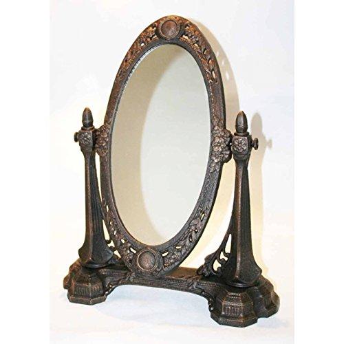 Standspiegel Tischspiegel Kippspiegel Messing Frisierspiegel Makeup-Spiegel Antik