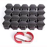 Embellecedores de rosca hexagonales (20 unidades, 17mm) para tornillos de llantas de neumáticos, con herramienta de extracción universal
