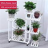 RYFS Sukkulenten Holz Blumenregale,Balkontür Wohnzimmer Indoor Outdoor Pastorale-Stil Dekorative Pflanze-ständer Blumenregal-G