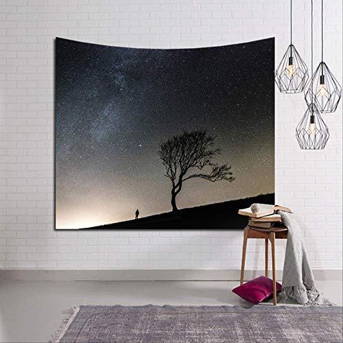 GOPW Wandteppich, Sonnenuntergang, Bedruckt, Wandteppich, 3D-Nachthimmel, Wandteppich, natürliche Landschaft, Vorhang, Kunstteppich, Tagesdecke, 150 x 130 cm, Stil 6 -