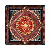 QXJPZ Tappeti Quadrati Tappeto Persiano Vintage Floreale Orientale Area sofà sofà Morbido Spesso Shabby Chic Moderno Varie Dimensioni (Size : 100x100cm)