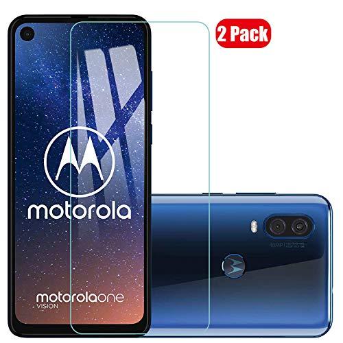 Voviqi Motorola one Vision Panzerglas, 9H verbesserte gehärtetes Glas Folie [Blasenfrei] [Anti-Fingerabdruck] Bildschirmschutzfolie für Motorola one Vision, 2 Stück