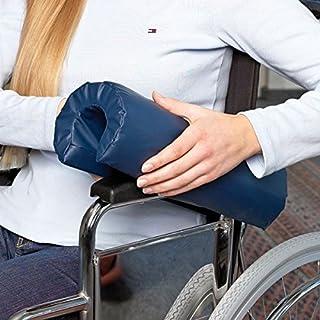 Unterarmpolster für Rollstuhl - Armkissen, Lehnenpolster aus hochwertigem Spezialschaum┇Abwaschbar, wischdesinfizierbar, absolut Flüssigkeitsundurchlässig, Viren-/Bakterien-/Milbendicht, robust, langlebig