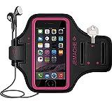 iPhone 6/6S/7/8 Brazalete, JEMACHE Dactilares Touch Apoyo Exclusivo Running Pasear Ejercicio Gimnasio Deportivo Brazo Banda Armband para iPhone 6/6S/7/8 (Rosy)