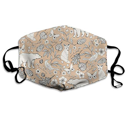 Rustic Toile - H White, Nectar Anti Dust Mask Anti Pollution Washable Reusable Mouth Masks
