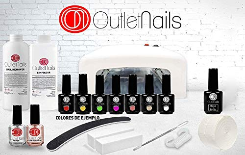Shellac Kit de vernis permanent avec lampe UV/LED 36 W 7 couleurs