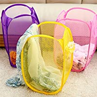 Perpetual Big Size Laundry Bag Foldable & Collapsible Basket with Easy to Carry Handle - for Home, Dorms, Hostel, Toy…