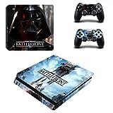 Playstation 4 Slim + 2 Controller Design Sticker Protector Set - Star Wars Battlefront (2) /PS4 S