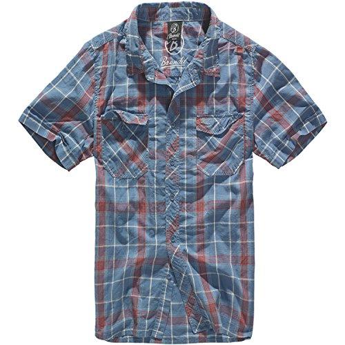 Brandit Roadstar Kurzarmhemd XXL Rot/Blau -