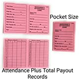 90 Degree® 100 pcs Muster Card for Daily Payroll Wages Workmans Attendance Record Keeping Slip Mix Colors