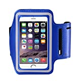 Armband für iPhone 7/6/6S Plus, LG G6 G5, Galaxy S8 S7 S6 Edge S8 +, Note 5. etc. casehq Reflektierende Klett verstellbar Sport Training Running Tasche Schlüsselhalter, Bildschirm protector-hiking, Biking, Walking (schwarz)