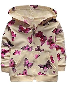 [Patrocinado]Ropa Bebé , Amlaiworld Niñas bebé pequeño mariposa impresión sudadera Tops ropa casual abrigo