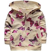 Ropa Bebé , Amlaiworld Niñas bebé pequeño mariposa impresión sudadera Tops ropa casual abrigo