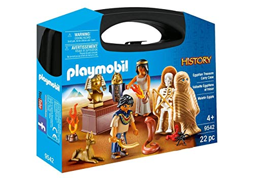 Playmobil- 9542 History Collectable Egyptian Treasure Carry Case Jouet, Nylon/a