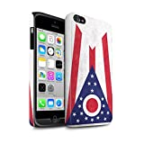Stuff4 Coque Matte Robuste Antichoc de Coque pour Apple iPhone 4/4S / Ohio Design/Ancien Drapeau État Américain Collection