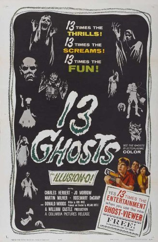 13 Ghosts Plakat Movie Poster (27 x 40 Inches - 69cm x 102cm) (1960) ()