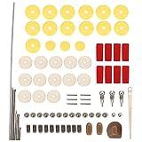 Flöte Reparatur Teile Set Tools Kit Praktische DIY Reparatur Wartung Kit Set Musikinstrument Teile Zubehör für Flöte, Flöte Reparatur Schrauben, Rollen, Pads, Reed, Pin Schrauben