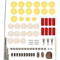 Dilwe Kit de Herramientas de reparación de Flauta 16pcs Almohadillas de Sonido de Orificio Abierto, Conjunto de Accesorios de Piezas de Instrumento Musical para Flauta