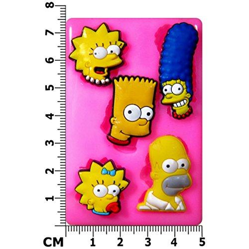 Simpsons Familie Silikon Form für Kuchen Dekorieren, Kuchen, kleiner Kuchen Toppers, Zuckerglasur Sugarcraft Werkzeug durch Fairie - Halloween-bend-oder