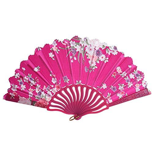Shiningbaby Faltfächer zum Tanzen, Handheld Flower Dance Requisiten ()
