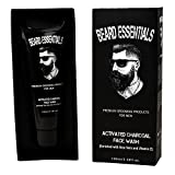 Beard Essentials Activated Charcoal Face Wash with Activated Charcoal Beads - No Sulphates & Parabens- 100ml