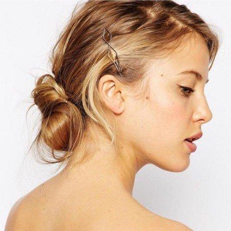 Barrette cheveux double losanges