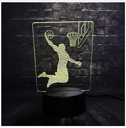 2bc1ef3f7e5 Basketball Dunk Man Led Nachtlicht Schreibtisch Tischdekoration Lampe  Schlafzimmer Schlaf Licht 7 Farbe Junge Kind Weihnachten