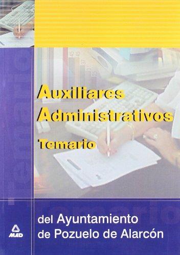 Auxiliares administrativos del ayuntamiento de pozuelo de alarcon.Temario.
