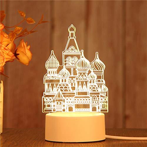 3D Nachtlicht Touch Control für Kinder, LED Schreibtisch Tisch Dekor Lampe für Kinder Schlafzimmer Kinderzimmer Flur Geburtstagsgeschenke Werbung Werbeartikel, coole Geschenke für Weihnachten Hotels.