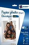 Avery 40 Feuilles de Papier Photo 180g/m² A4 - Impression Jet d'Encre - Brillant - Blanc (2741)