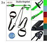 3 x eaglefit® Sling Trainer exclsuive Studio-Line mit Alu-Griffen; inkl. A1 Aluminium-Dibond-Trainings-Poster - Ideal für Fitness-Studios
