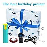 Paquete de cumpleaños, [Paquete de 5] Mini Power Bank, Cable de carga USB 3 en 1, Auriculares Bluetooth, Lente de cámara de teléfono gran angular de 120 °, Soporte de timbre para teléfono móvil.