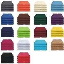Handtücher Set - 4x Handtuch - 50x80 cm - 100% Baumwolle - Farbe Bordeaux
