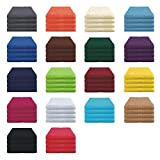 Handtücher Set - 4x Handtuch - 50x80 cm - 100% Baumwolle - Farbe Anthrazit