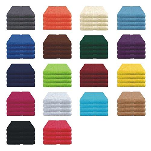 Handtücher Set - 4x Handtuch - 50x80 cm - 100% Baumwolle - Farbe Türkis