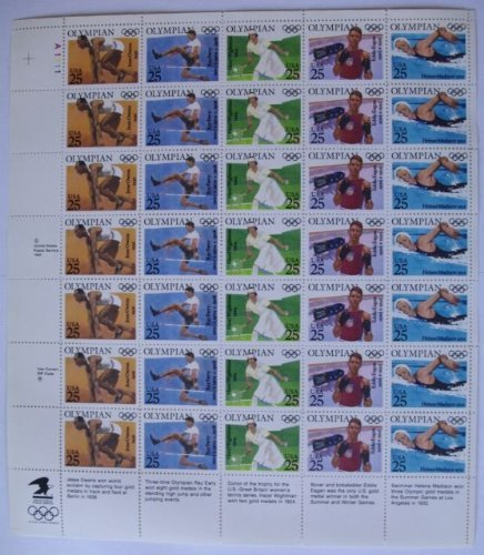 Sc#2496-2500 Olympian US Stamp Sheet of 35 by USPS (Usp 35)
