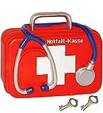 alles-meine.de GmbH Spardose -  Notfall - Kasse  - mit Schlüssel und Schloss - Stabile Sparbüchs..