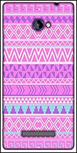 Snoogg Pink Aztec Pattern Designer Protective Back Case Cover For HTC Windows Phone 8S