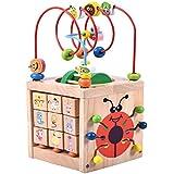 Acwenie 7 en 1 Madera Jardín Bead Maze Actividad Cube Juguetes Juegos Para Niños Early Development Juguetes Halloween Gracias Dando Día Navidad Año Nuevo Juguetes Regalos Para Niños