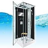 AcquaVapore DTP6038-2303L Dusche Dampfdusche Duschtempel Duschkabine -Th. 100x100, EasyClean Versiegelung der Scheiben:2K Scheiben Versiegelung +99.-EUR
