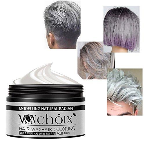 BOBORA silber farbe haarwachs, professionelle haarwachs natürliche matte frisur haarfärbemittel wachs für party cosplay