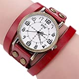 Hot Selling! CCQ Brand Vintage Cow Leather Bracelet Watch Men Women Wristwatch Quartz - B07H76QYDD