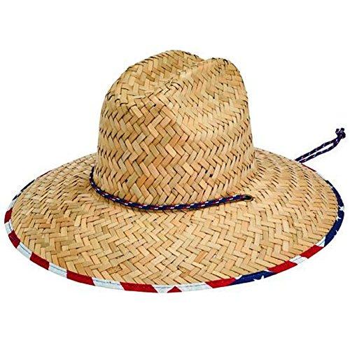 San Diego Hat Co. Men s Straw Lifeguard Adjustabel Chin Cord 5c7992e7312f